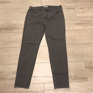 "Madewell jeans (size 30): 9"" high rise (grey wash)"